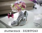 elegant bride's shoes with... | Shutterstock . vector #332859263
