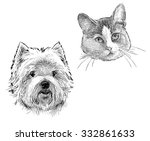 portraits of the pets | Shutterstock . vector #332861633