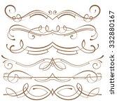 set  calligraphic design... | Shutterstock . vector #332880167