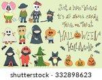 happy halloween.vector set of...   Shutterstock .eps vector #332898623