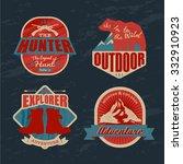 logo vintage outdoor theme ...   Shutterstock .eps vector #332910923