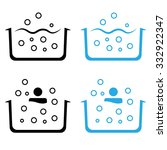 jacuzzi vector icon set... | Shutterstock .eps vector #332922347