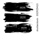 big long black textured thick... | Shutterstock .eps vector #332925413