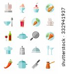 kitchen  cooking  color icons.... | Shutterstock .eps vector #332941937