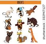 cartoon set of cute animals...   Shutterstock .eps vector #332947127