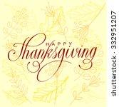 happy thanksgiving day vector...   Shutterstock .eps vector #332951207