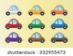 cartoon cars set | Shutterstock .eps vector #332955473