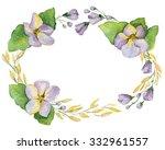 floral composition of violets.... | Shutterstock . vector #332961557
