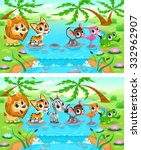 spot the differences. two... | Shutterstock .eps vector #332962907