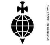 global guard vector icon. style ... | Shutterstock .eps vector #332967947