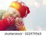 Little Cute Girl With Christma...