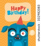 monster party card design.... | Shutterstock .eps vector #332982083