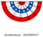 bunting for july 4 and most... | Shutterstock .eps vector #332985917