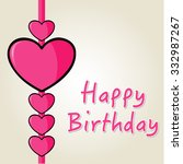 happy birthday greeting card... | Shutterstock .eps vector #332987267