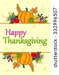 happy thanksgiving holiday... | Shutterstock .eps vector #332996507