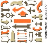 retro arrow set   set of retro... | Shutterstock .eps vector #333011477