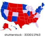 united states electoral map  ... | Shutterstock .eps vector #333011963