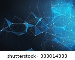 abstract blue particles... | Shutterstock . vector #333014333