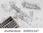 engineering drawings  ... | Shutterstock . vector #333021167