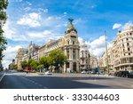 metropolis hotel in madrid in... | Shutterstock . vector #333044603