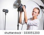 pretty  female photographer...   Shutterstock . vector #333051203