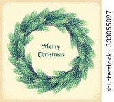 Christmas Wreath With Fir...