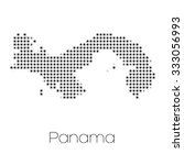 a map of the country of panama   Shutterstock . vector #333056993