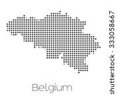 a map of the country of belgium | Shutterstock . vector #333058667