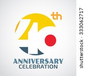template logo 40th anniversary... | Shutterstock .eps vector #333062717