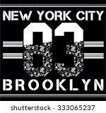 brooklyn sport bandanna...   Shutterstock .eps vector #333065237