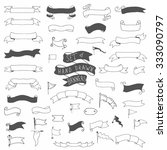 set of hand drawn vector... | Shutterstock .eps vector #333090797