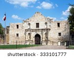 Entrance To The Alamo In San...