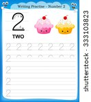 writing practice number two... | Shutterstock . vector #333103823