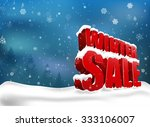 winter sale on christmas snow.... | Shutterstock .eps vector #333106007