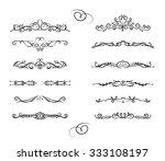 classic hand drawn element... | Shutterstock .eps vector #333108197