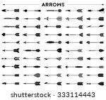 vector set of hipster arrows... | Shutterstock .eps vector #333114443