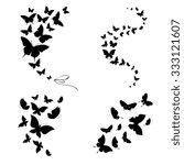 butterflies design | Shutterstock .eps vector #333121607