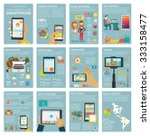 big set infographic with charts ... | Shutterstock .eps vector #333158477