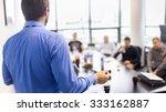 business man making a... | Shutterstock . vector #333162887