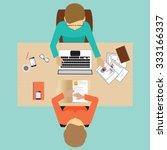 recruitment flat banner set... | Shutterstock .eps vector #333166337