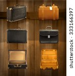 old baggage  vector set on... | Shutterstock .eps vector #333166397