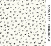 seamless pattern with bows | Shutterstock .eps vector #333170303