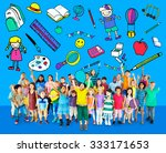 kids school education toys... | Shutterstock . vector #333171653
