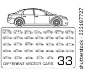 car icons thin line drawing set ... | Shutterstock .eps vector #333187727