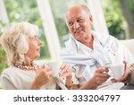 image of happy senior man on... | Shutterstock . vector #333204797
