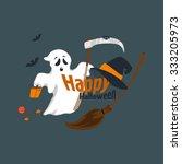 fun for halloween flat design... | Shutterstock .eps vector #333205973