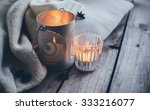 cosy and soft winter background ... | Shutterstock . vector #333216077
