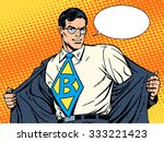 job super businessman hero... | Shutterstock .eps vector #333221423