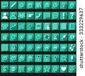 flat icons set for websites and ...