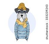 Schnauzer Dog Sailor  Nautical...
